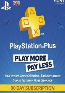 Playstation Plus CARD PSN UNITED KINGDOM 90 Days