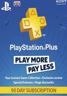 Joc Playstation Plus CARD PSN UNITED KINGDOM 90 Days pentru PSN