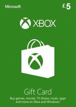 XBOX LIVE GIFT CARD 5 GBP UNITED KINGDOM