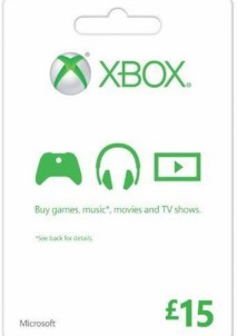 XBOX LIVE GIFT CARD 15 GBP UNITED KINGDOM