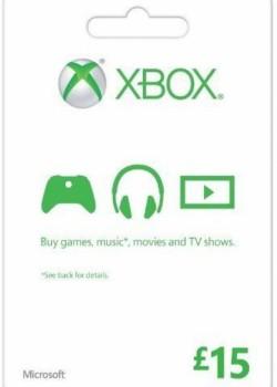 XBOX LIVE GIFT CARD 15 GBP UNITED KINGDOM