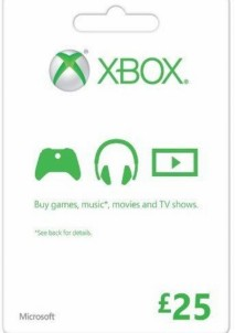 XBOX LIVE GIFT CARD 25 GBP UNITED KINGDOM