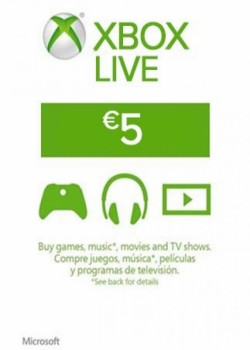 Xbox Live Gift Card Europe 5 EUR