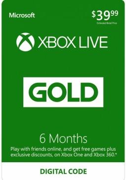 Joc Xbox Live Gold 6 Months CD-Key pentru XBOX
