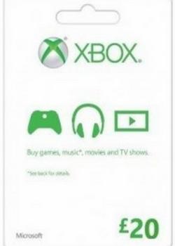 XBOX LIVE GIFT CARD 20 GBP UNITED KINGDOM