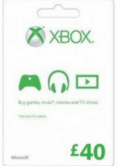 XBOX LIVE GIFT CARD 40 GBP UNITED KINGDOM