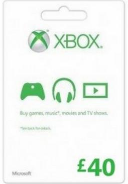 Joc XBOX LIVE GIFT CARD 40 GBP UNITED KINGDOM pentru XBOX GIFT CARD