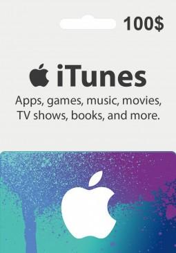 Joc Apple iTunes Gift Card 100 USD pentru iTunes