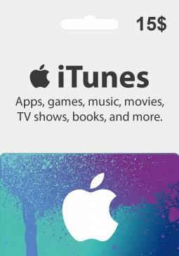Joc Apple iTunes Gift Card 15 USD pentru iTunes