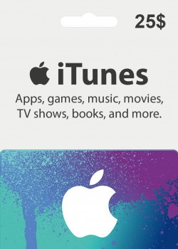 Apple iTunes Gift Card 25 USD