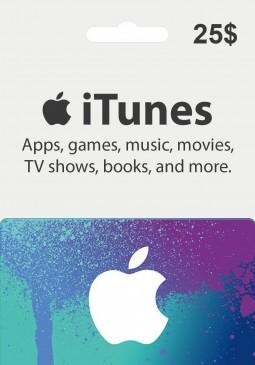 Joc Apple iTunes Gift Card 25 USD pentru iTunes