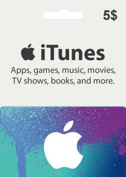 Apple iTunes Gift Card 5 USD