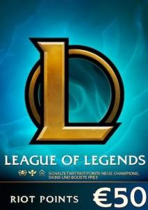League of Legends Card 50 Euro
