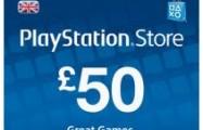 PlayStation Network 50 GBP PSN CARD UK