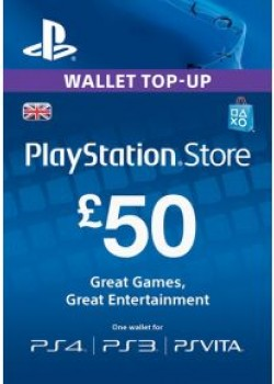 PlayStation Network 50 GBP PSN CARD UK code with instant delivery