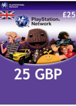PlayStation Network Card 25 GBP code with instant delivery