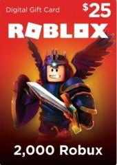 Roblox Card 25 USD - 2000 Robux Key
