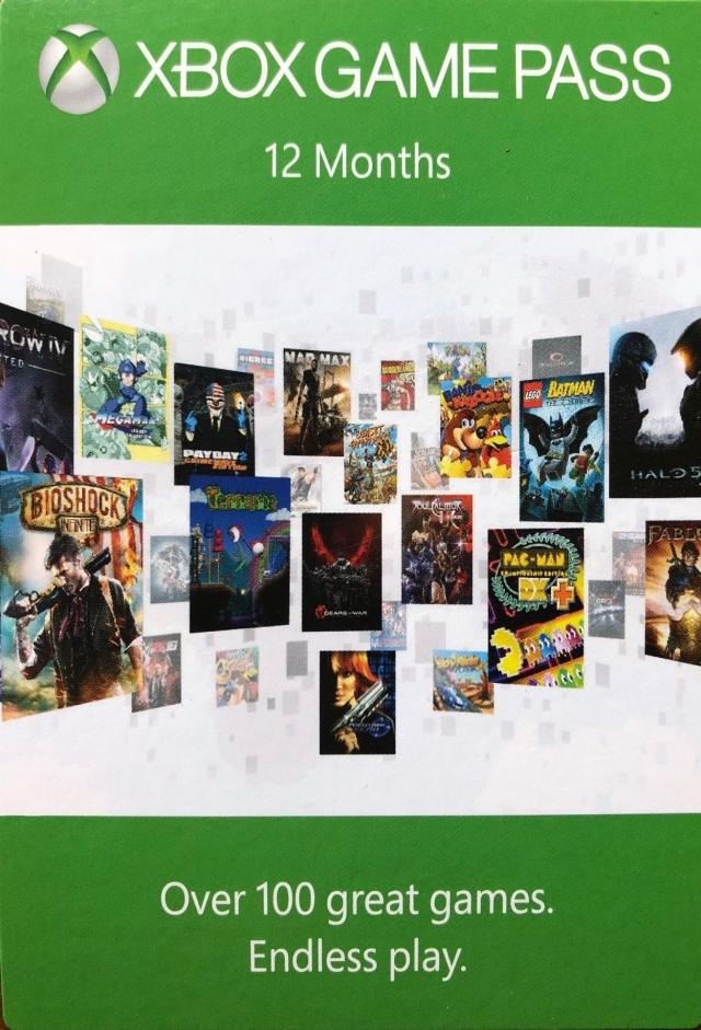 microsoft xbox game pass 12 months